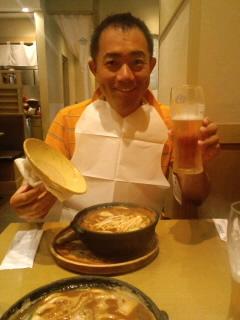 昼飯は名古屋名物きしめん